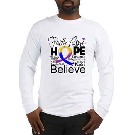 Faith Hope Bladder Cancer Long Sleeve T-Shirt