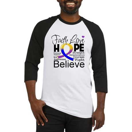 Faith Hope Bladder Cancer Baseball Jersey