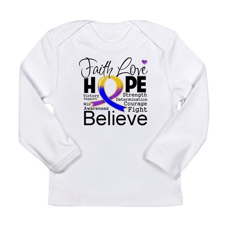 Faith Hope Bladder Cancer Long Sleeve Infant T-Shi