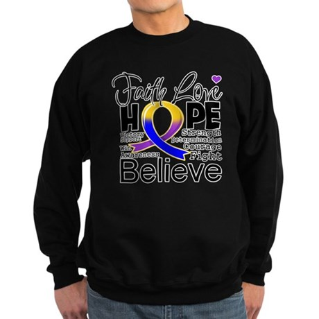 Faith Hope Bladder Cancer Sweatshirt (dark)