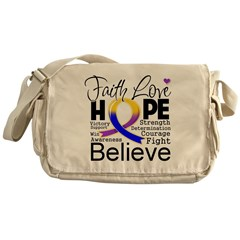 Faith Hope Bladder Cancer Messenger Bag