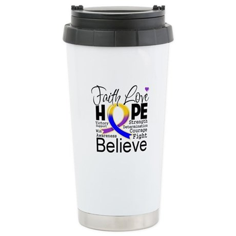 Faith Hope Bladder Cancer Ceramic Travel Mug
