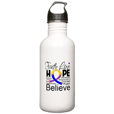Faith Hope Bladder Cancer Stainless Water Bottle 1