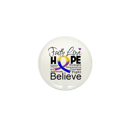 Faith Hope Bladder Cancer Mini Button