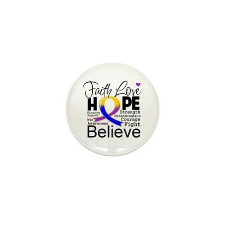 Faith Hope Bladder Cancer Mini Button (10 pack)
