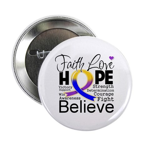 "Faith Hope Bladder Cancer 2.25"" Button (100 pack)"