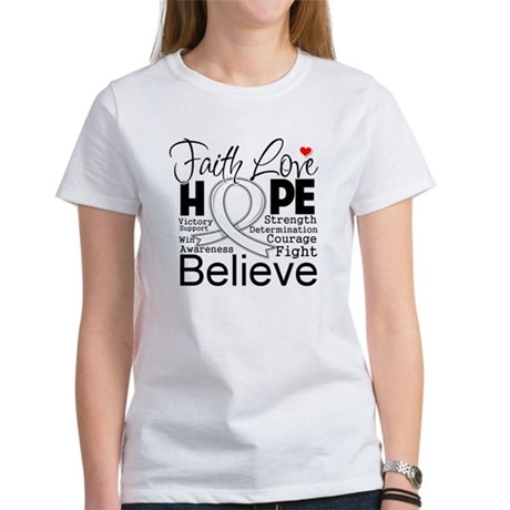 Faith Hope Bone Cancer Women's T-Shirt