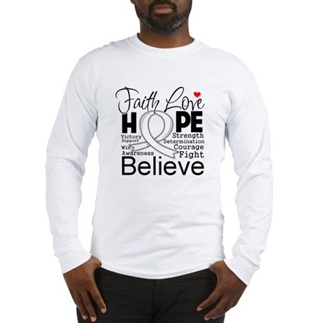 Faith Hope Bone Cancer Long Sleeve T-Shirt