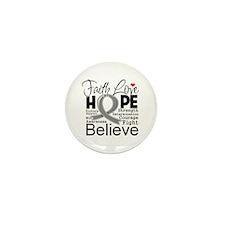 Faith Hope Brain Cancer Mini Button (10 pack)
