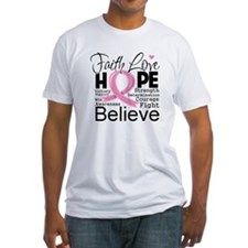 Faith Hope Breast Cancer Shirt