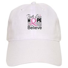 Faith Hope Breast Cancer Baseball Cap