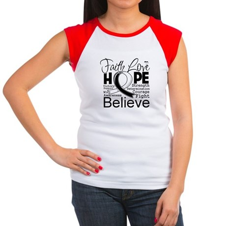 Faith Hope Carcinoid Cancer Women's Cap Sleeve T-S