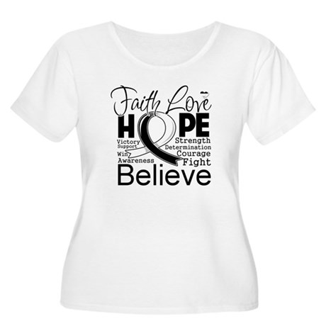 Faith Hope Carcinoid Cancer Women's Plus Size Scoo