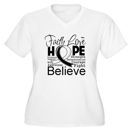 Faith Hope Carcinoid Cancer Women's Plus Size V-Ne