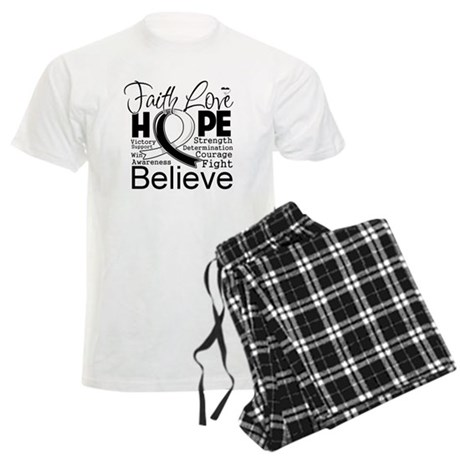 Faith Hope Carcinoid Cancer Men's Light Pajamas