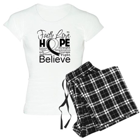 Faith Hope Carcinoid Cancer Women's Light Pajamas
