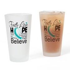 Faith Hope Cervical Cancer Drinking Glass