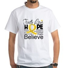 Faith Hope Childhood Cancer Shirt