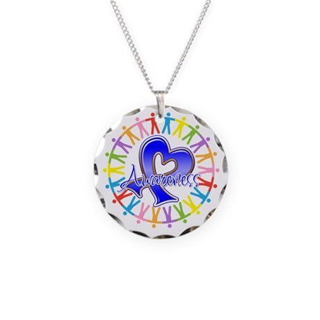 Rectal Cancer Unite Necklace Circle Charm