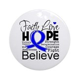 Faith Hope Colon Cancer Ornament (Round)
