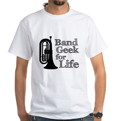Baritone Band Geek White T-Shirt