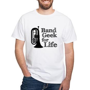 Baritone Band Geek White T-Shirt