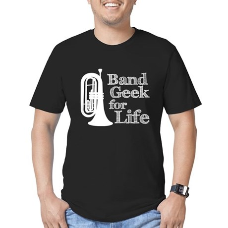 Baritone Band Geek Men's Fitted T-Shirt (dark)