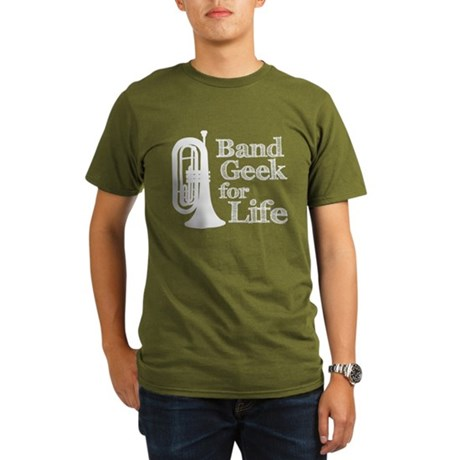 Baritone Band Geek Organic Men's T-Shirt (dark)
