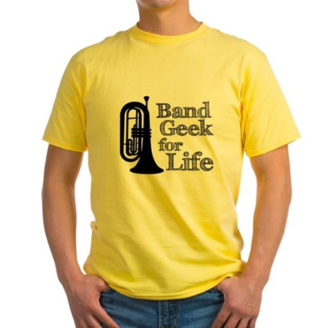 Baritone Band Geek Yellow T-Shirt