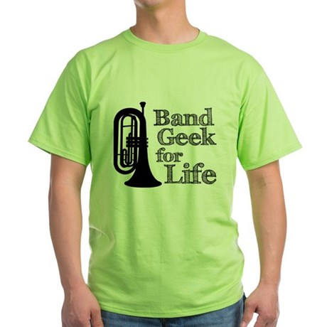 Baritone Band Geek Green T-Shirt