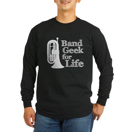 Baritone Band Geek Long Sleeve Dark T-Shirt