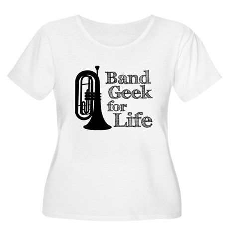 Baritone Band Geek Women's Plus Size Scoop Neck T-