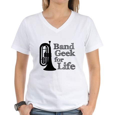 Baritone Band Geek Women's V-Neck T-Shirt