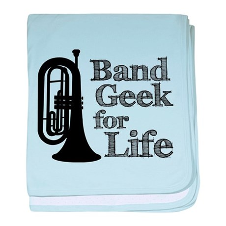 Baritone Band Geek baby blanket