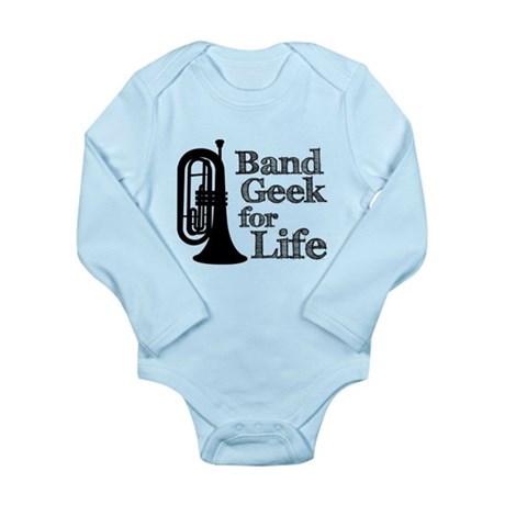 Baritone Band Geek Long Sleeve Infant Bodysuit