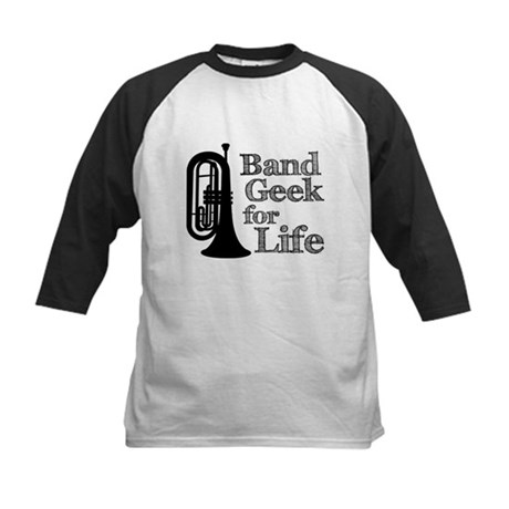 Baritone Band Geek Kids Baseball Jersey