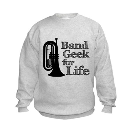 Baritone Band Geek Kids Sweatshirt