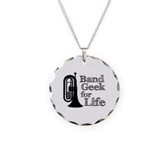 Baritone Band Geek Necklace Circle Charm