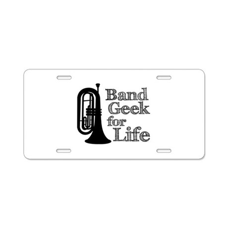 Baritone Band Geek Aluminum License Plate