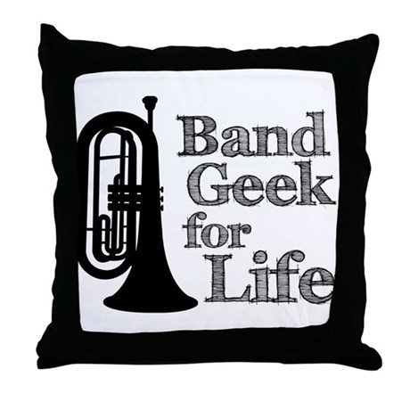Baritone Band Geek Throw Pillow