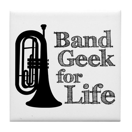 Baritone Band Geek Tile Coaster