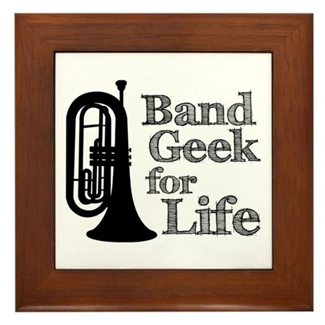 Baritone Band Geek Framed Tile