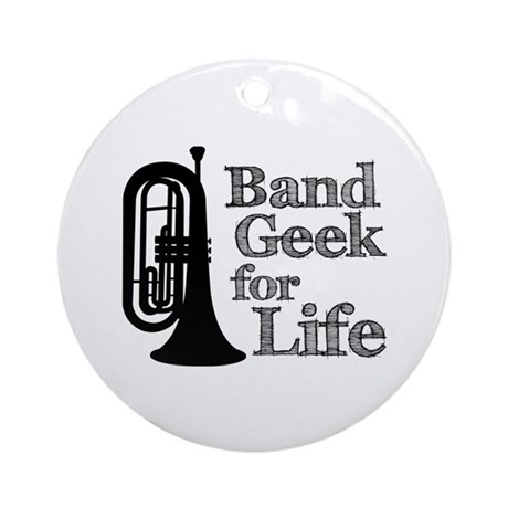 Baritone Band Geek Ornament (Round)