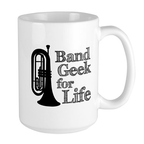 Baritone Band Geek Large Mug