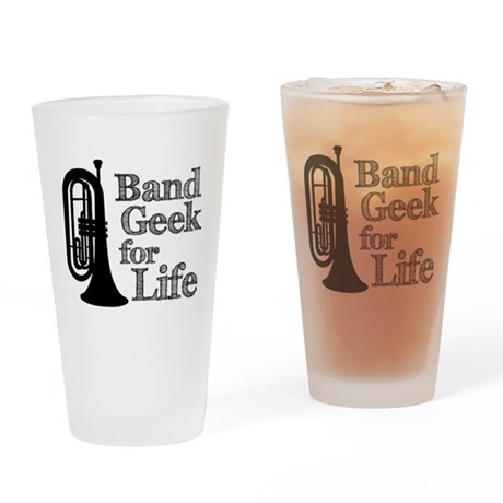 Baritone Band Geek Drinking Glass