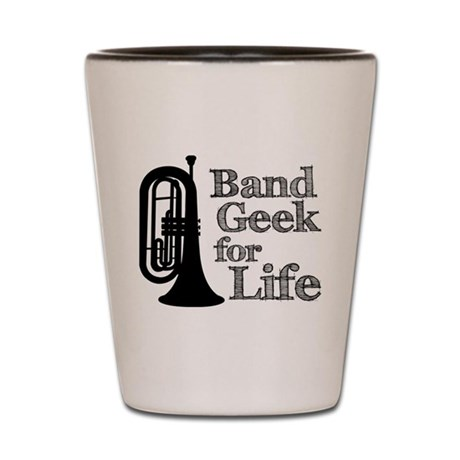 Baritone Band Geek Shot Glass