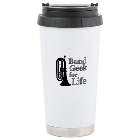 Baritone Band Geek Ceramic Travel Mug