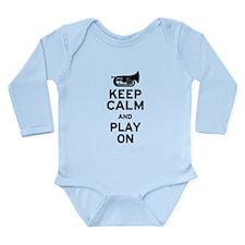 Keep Calm Baritone Long Sleeve Infant Bodysuit