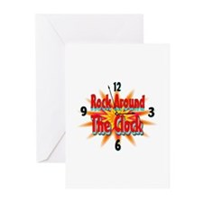 rock around theclock Greeting Cards (Pk of 20)