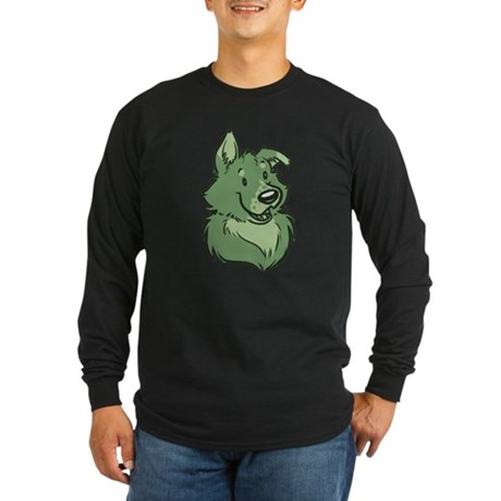Pickles The Porch Dog Long Sleeve Dark T-Shirt